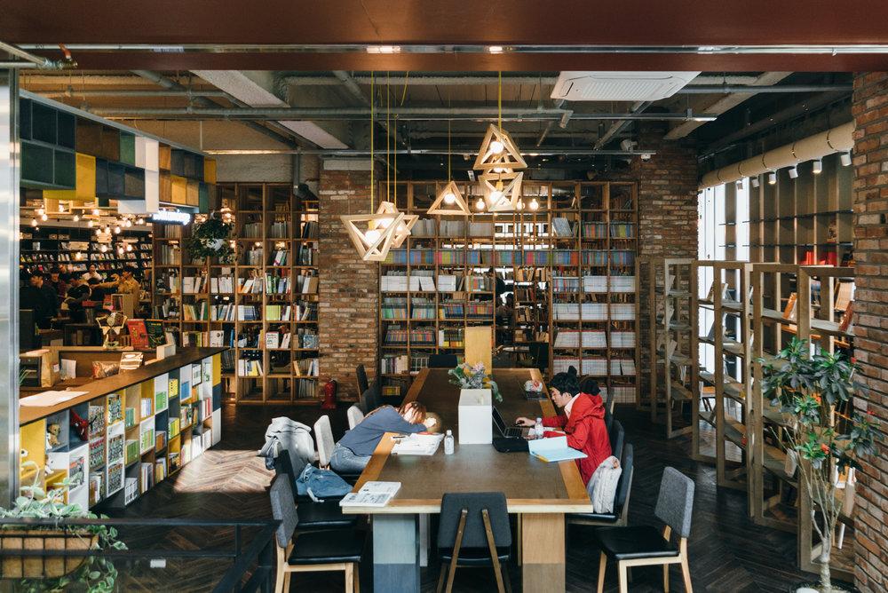 Greysuitcase Seoul Cafe Series:Blue Square BookPark (블루스퀘어 북파크), Hannam-dong (한남동), Seoul, South Korea.