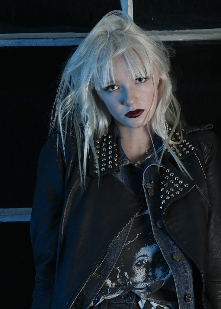 Wilhelmina model Ariel Beesly shines in this industrial rocker girl look. Photos by Mike Azria Photography.