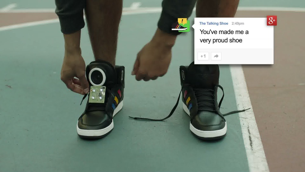 "GOOGLE – ""TALKING SHOE"""