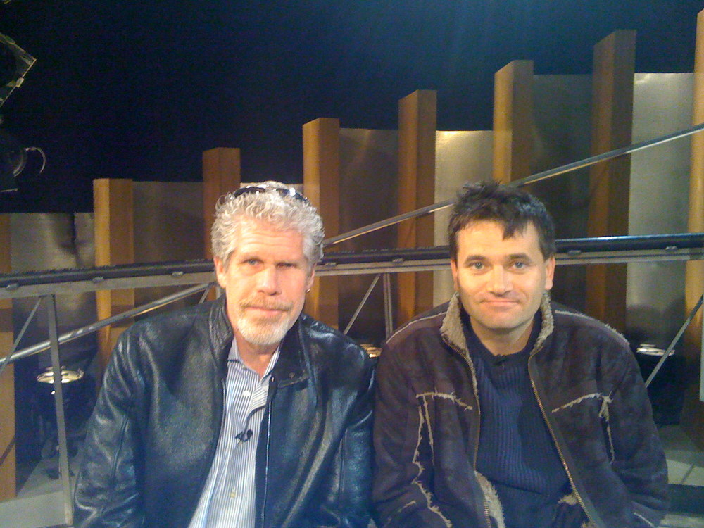 On a publicity tour with Ron Perlman