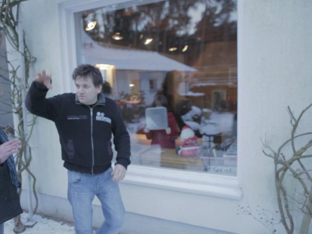 Simon directing in Belgium.