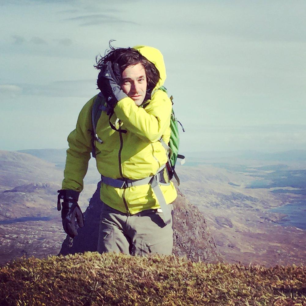 Mountain climbing in the highlands of Scotland