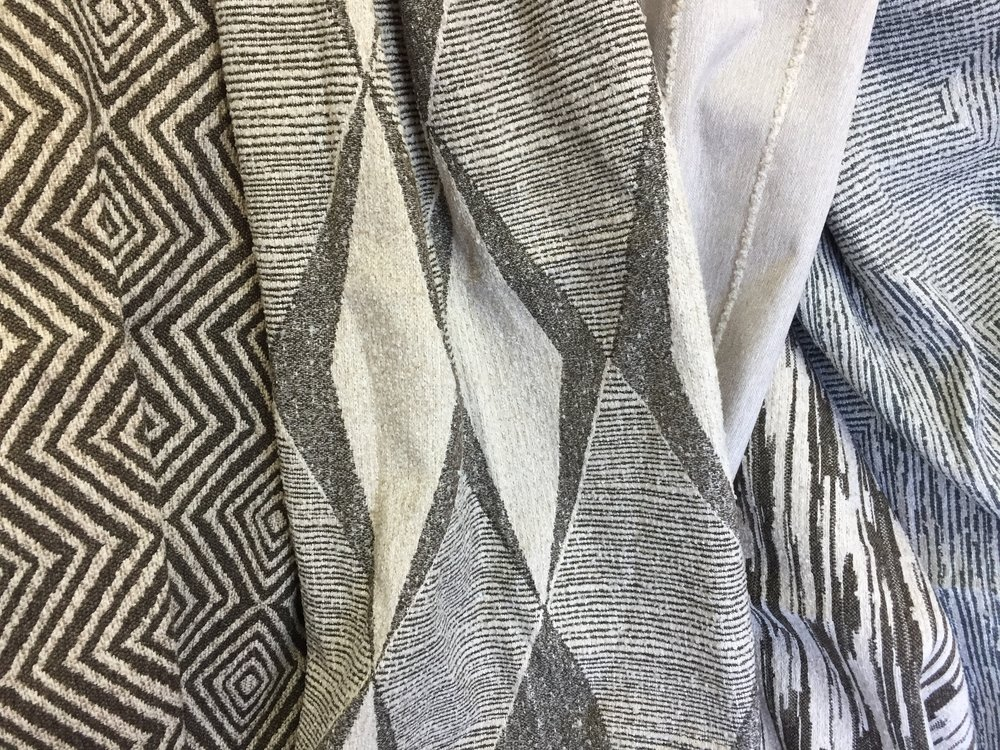 Above and below: new Brentwood Textiles  Relaxed Modern  inspired fabrics.