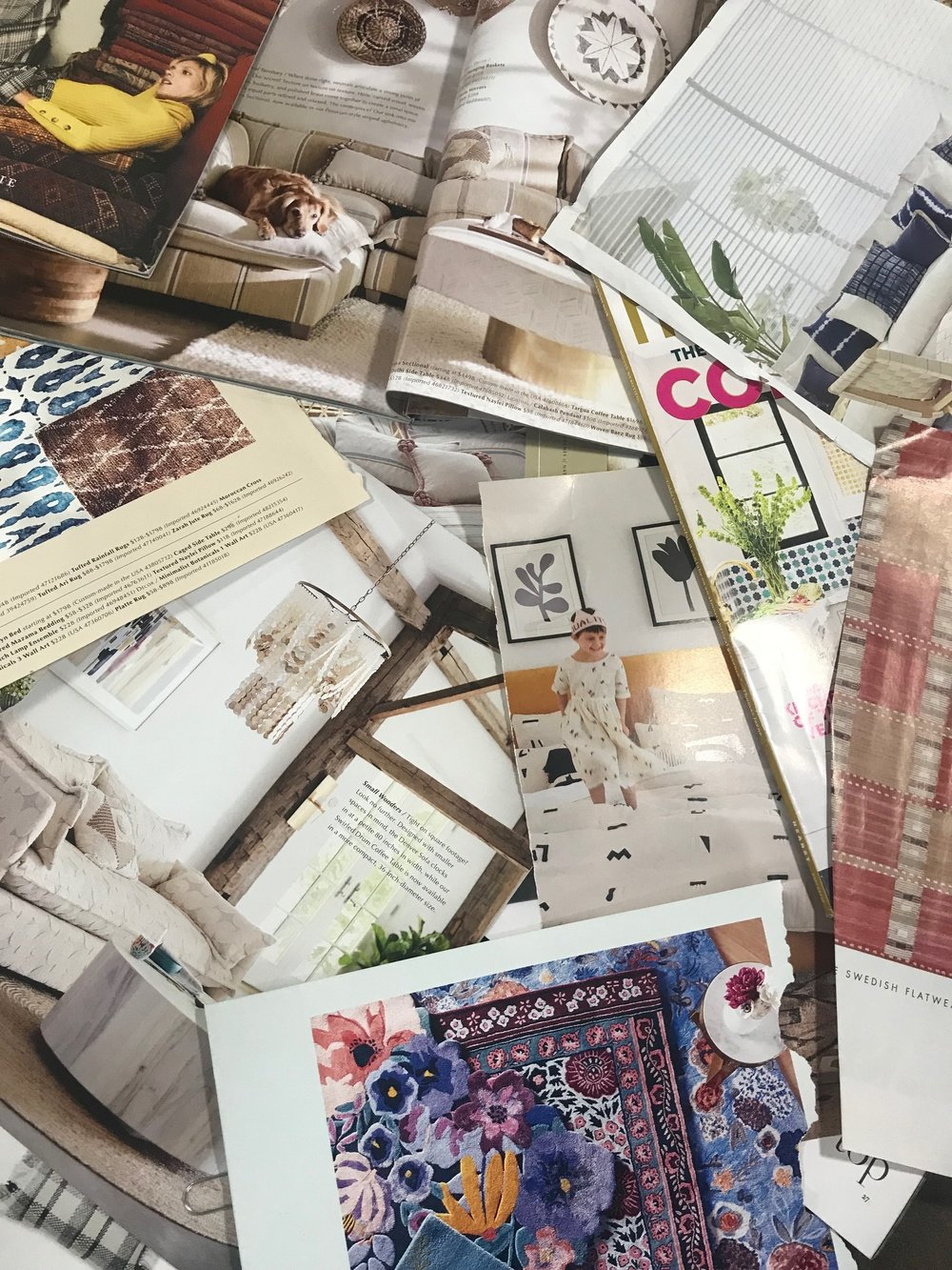 Magazine Research for inspiration and trends