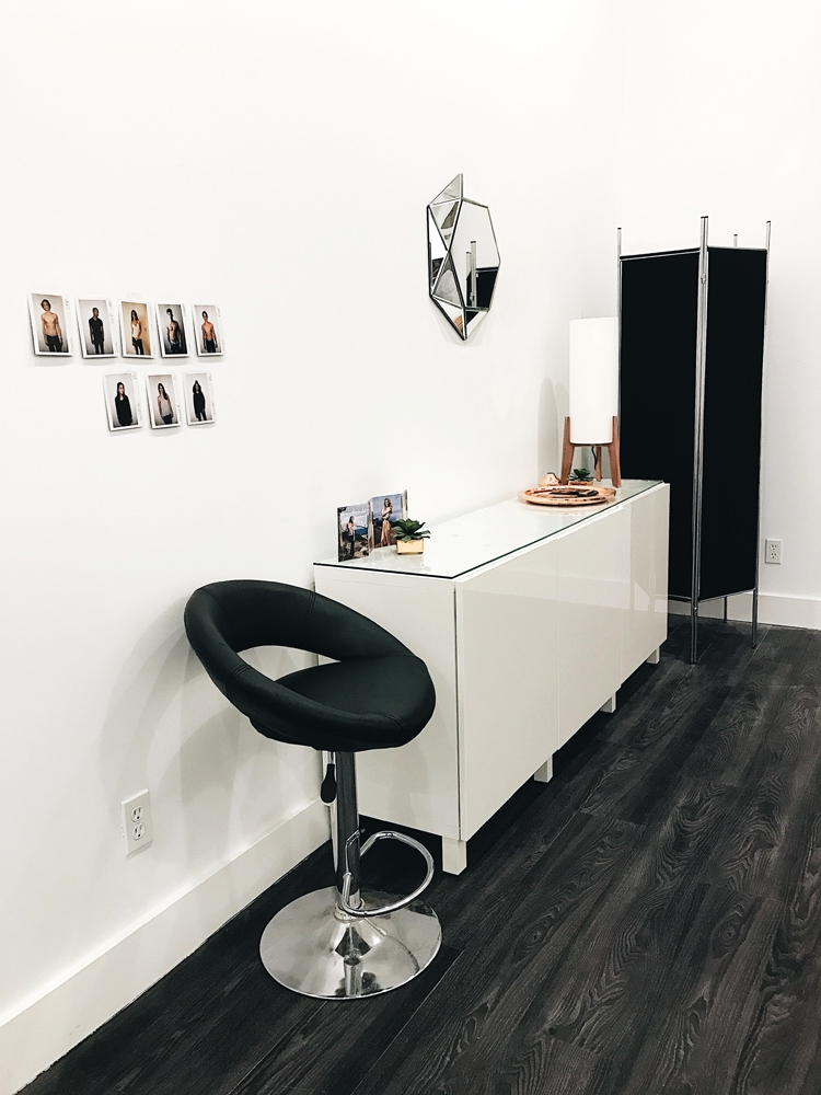 Makeup station and privacy divider