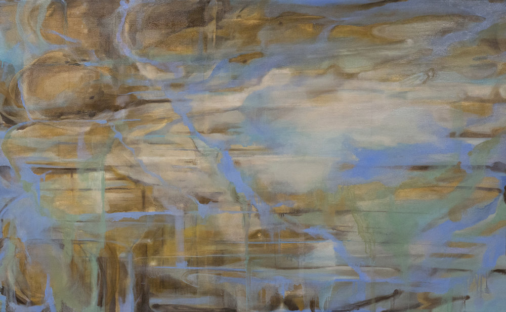 "Scape 6, 39x63"", oil and graphite on canvas"