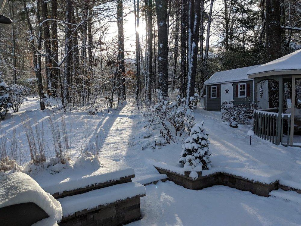 Late December snowfall