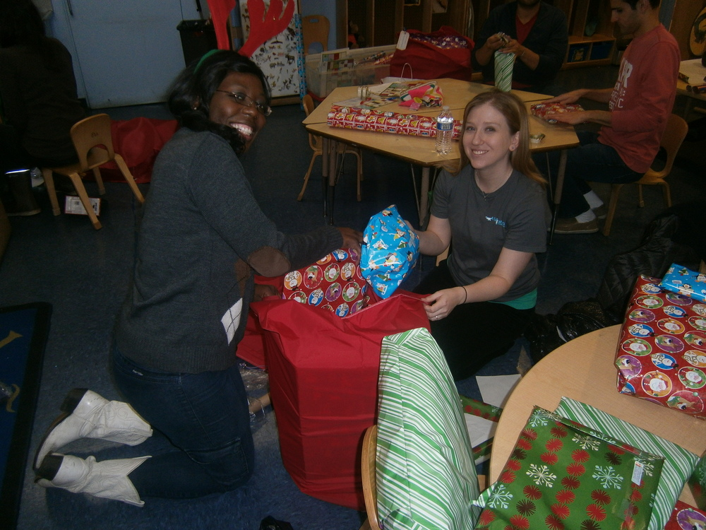 Gift Wrappin 4 - Lisa and Emily.JPG