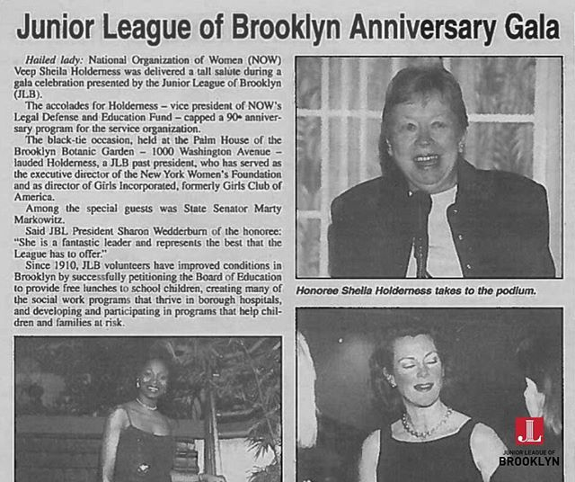 We're throwing it back to the Junior League of Brooklyn's Anniversary Gala. The Gala helped celebrate Junior League of Brooklyn's 85th Anniversary and honored the work of past presidents. During this Women's History month, we are continuing to honor the women of the Junior League of Brooklyn (past and present) who have made a difference in our local communities.