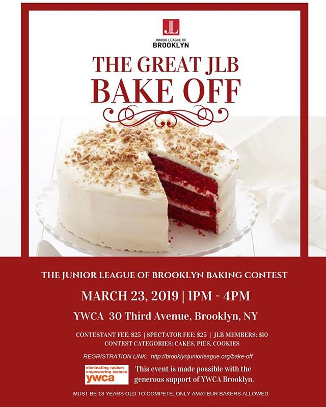 Get ready, set, bake! ——————————————— The Junior League of Brooklyn is calling all amateur bakers to show off their baking skills at the Junior League of Brooklyn's first annual baking contest. ———————————————- To participate and register for this event, visit the link in our bio.