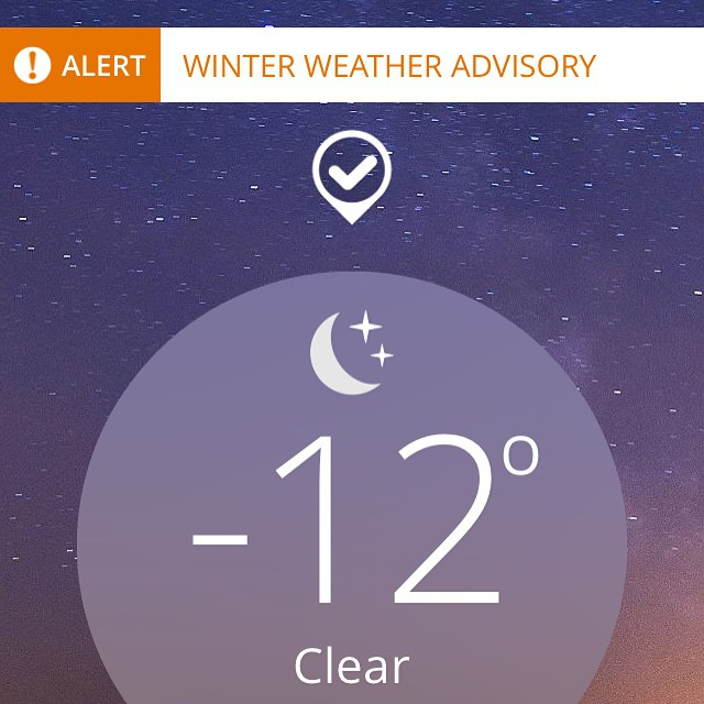 This was at 6 am when I woke up. Really Mass?! You expect me to head to work in these conditions. And for those skeptics...this is not the wind chill. This is for real.