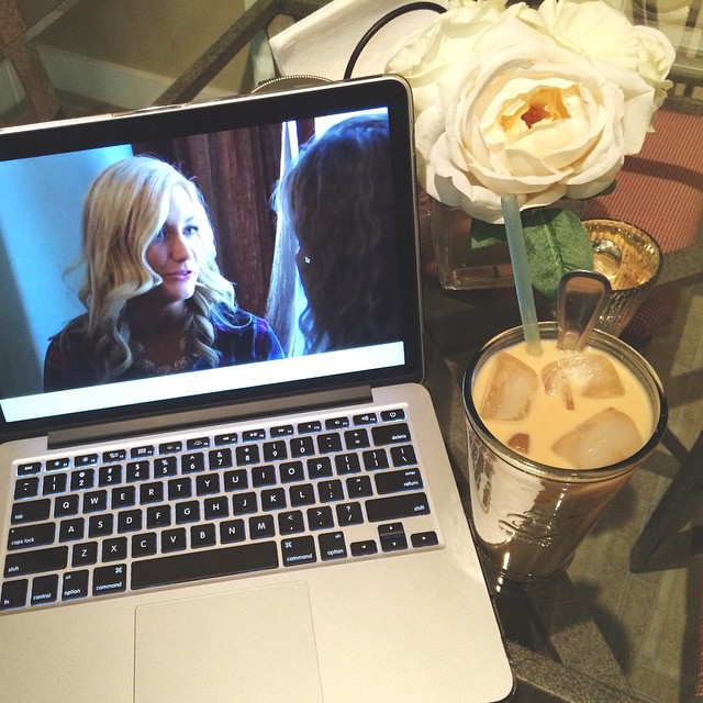 8pm iced latte and The Bachelor finale. Life is good tonight. #caffeine #espresso
