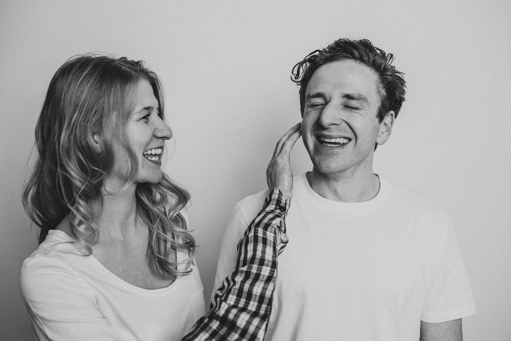Alyssa & Rory's couple session was shot in and around my studio in Toronto