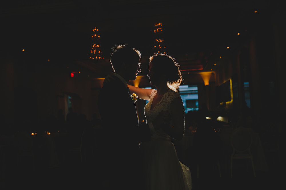 first dance during wedding reception at rosewater toronto