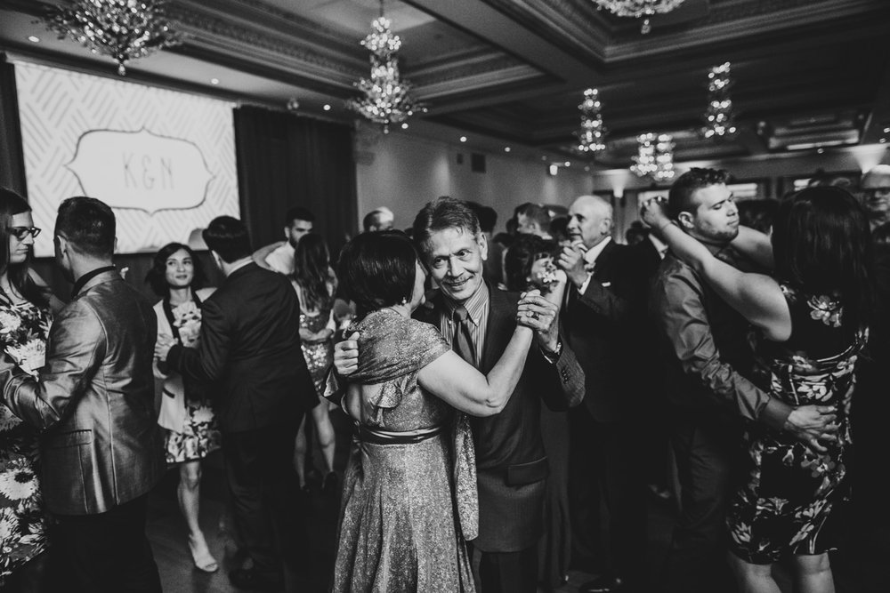 secrets on the dancefloor during wedding reception at rosewater toronto