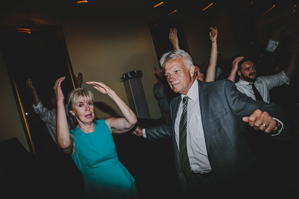 guests dancing at rosewater toronto wedding