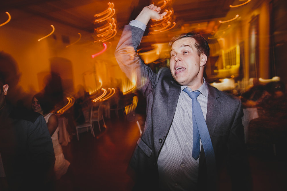 guest dancing at rosewater toronto wedding