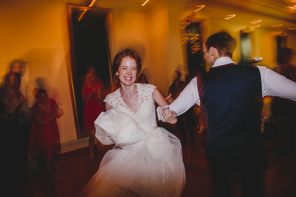 bride and groom dancing at rosewater toronto wedding