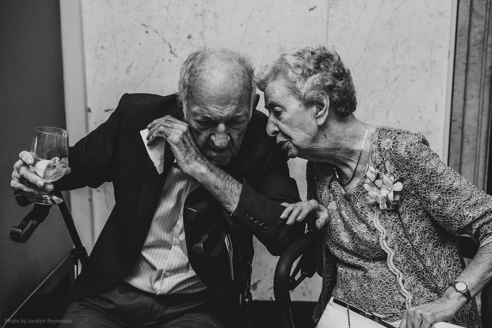 wedding conversation between grandparents at rosewater toronto