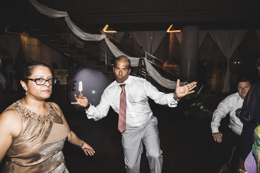 dance party during a wedding