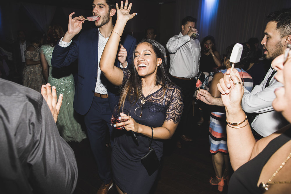 woman enjoying wedding reception party