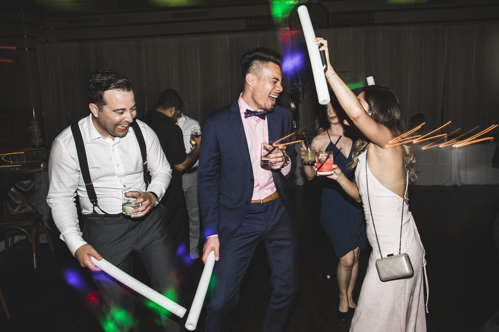guests enjoying the dance party during a wedding