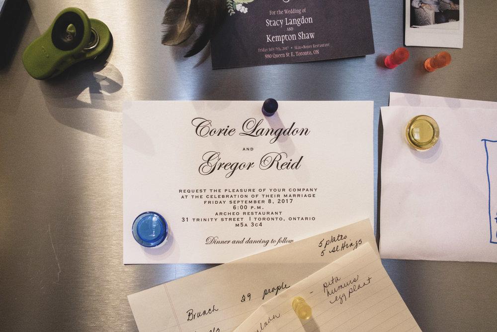 wedding invitation archeo