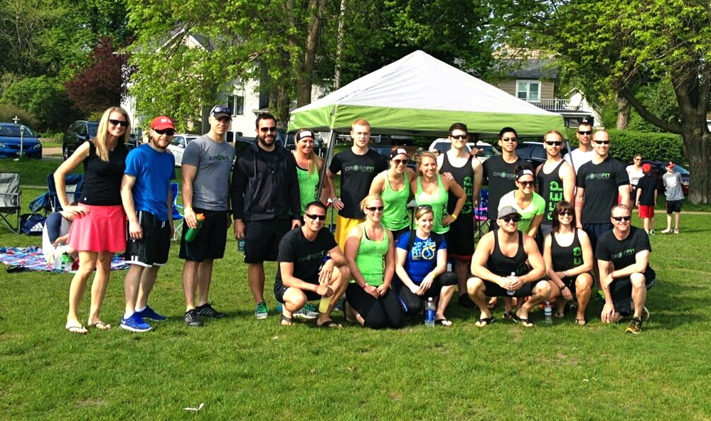 "Most of the crew on Memorial Day before tackling ""Murph"""
