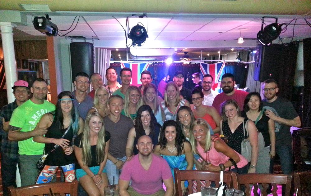 Several CFEPer's hanging out at Santorini's last Saturday...