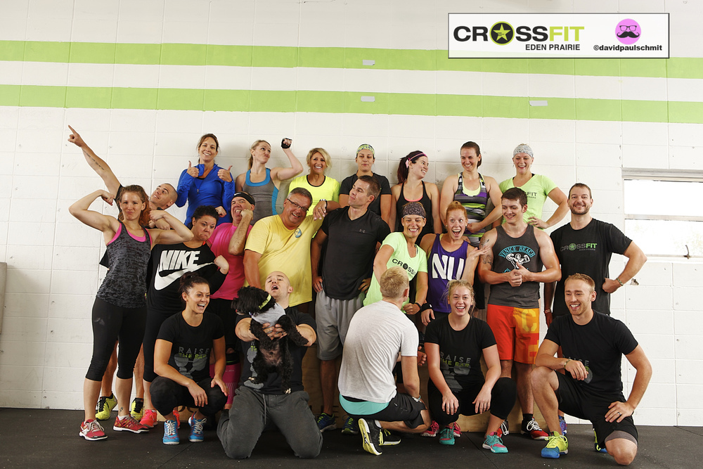 CFEP 9AM class having fun post-WOD last Saturday...
