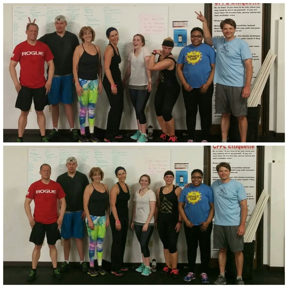 A few CFPL members posing for a picture post-WOD last Saturday...