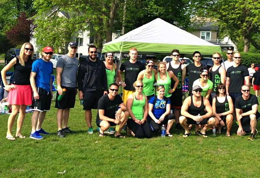 "The CFEP community participating in ""Murph"" at MDM Excelsior in 2014..."