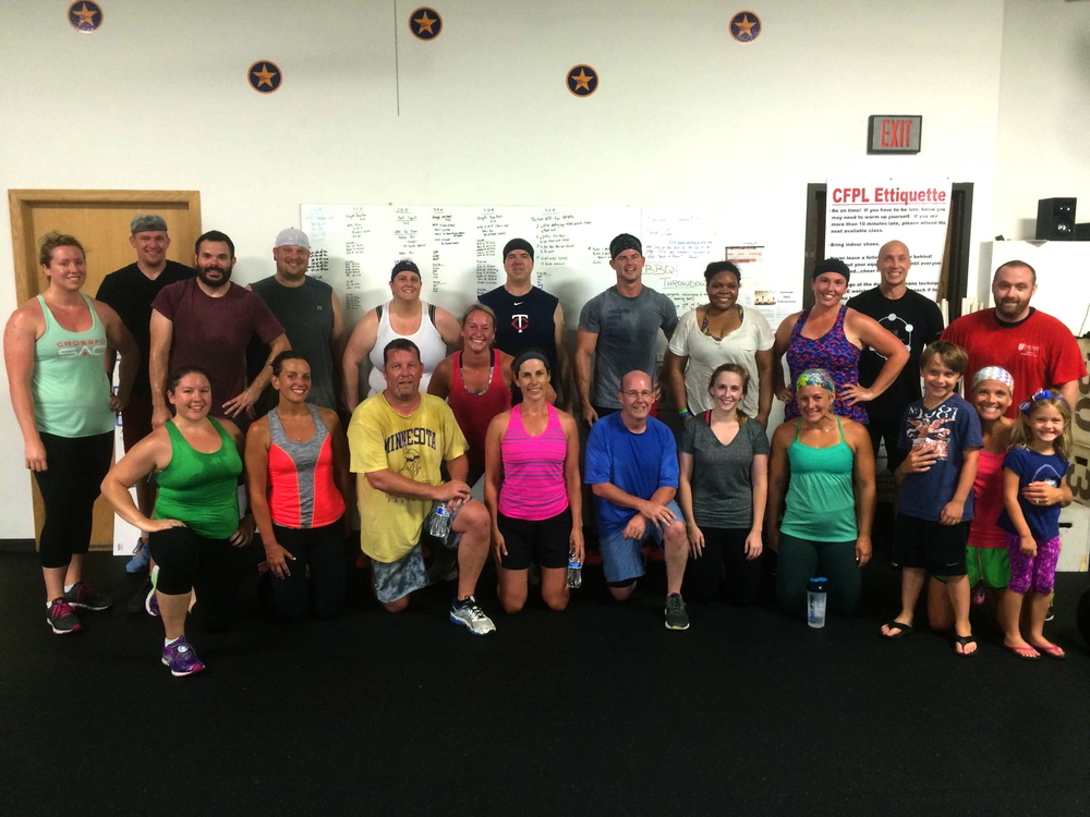 Great crew for the partner WOD at CFPL last Saturday...