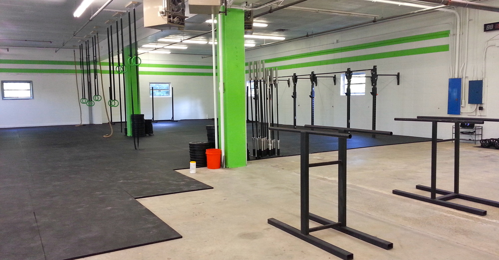 Being this is our final week in our current space, we thought we would look back at the beginning. Only half a gym finished, but a whole lot of dreams!