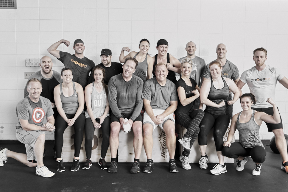 CrossFit Prior Lake 8:30AM class post-WOD last Saturday