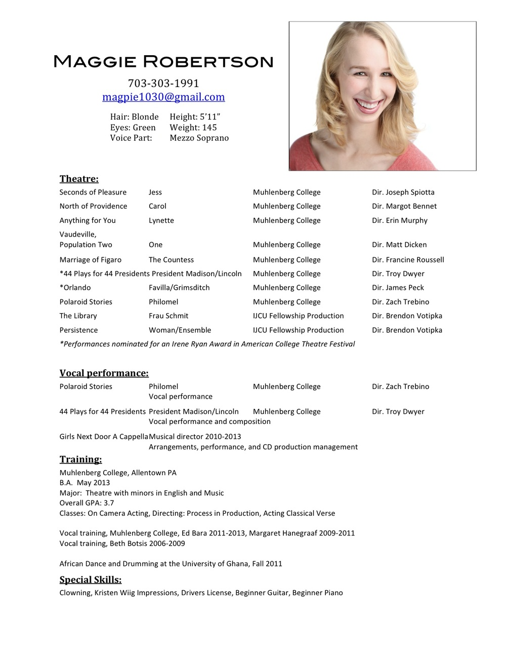actors resume template doc tk actors resume template