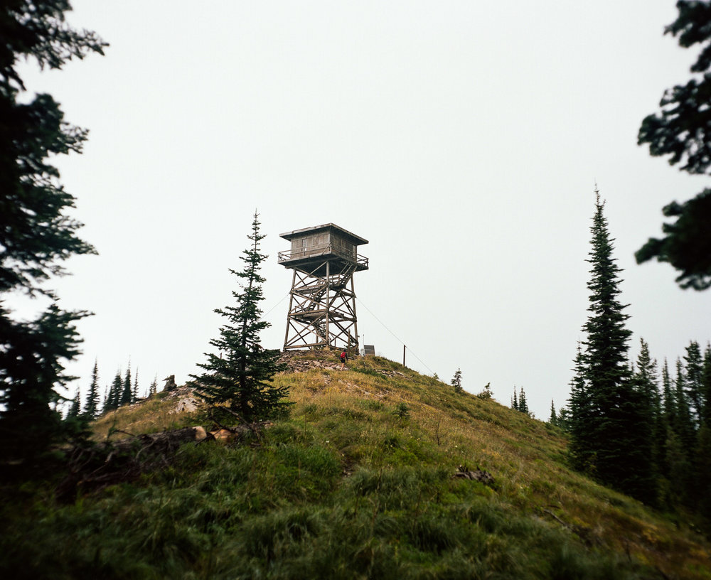 Firewatch tower on a hilltop Libby, Montana
