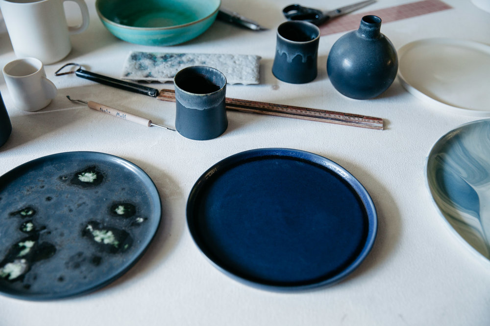 Photographs of Felt+Fat ceramics for Woven Magazine