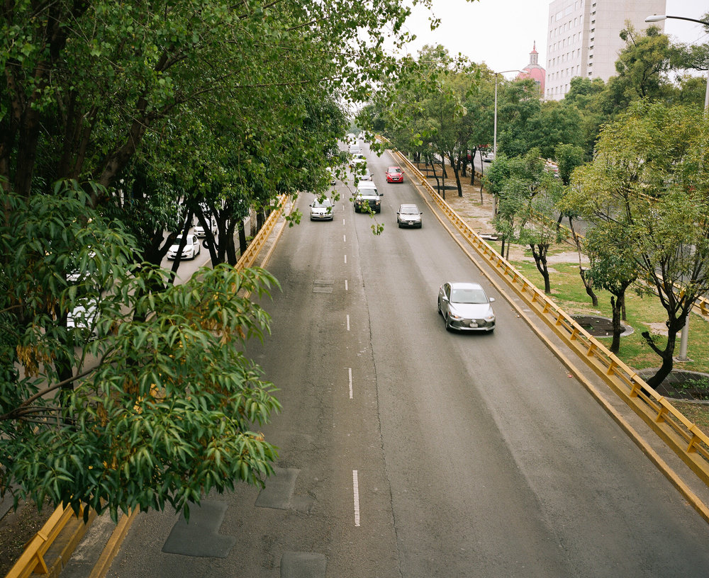 Cars from overpass, Mexico City