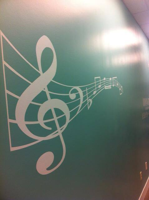 WALL MURALS ON OUR SOUND PROOFED WALLS