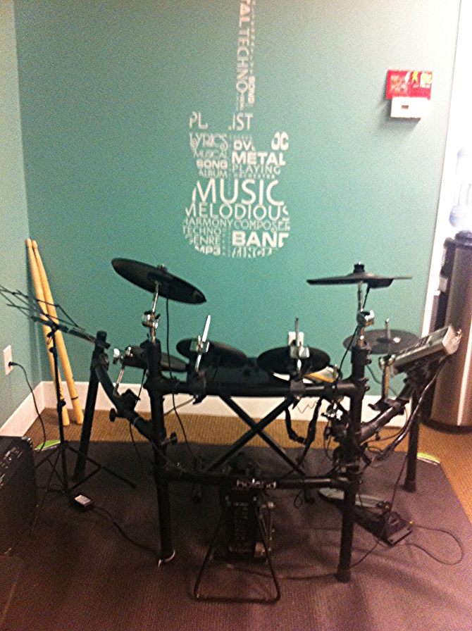 OUR DIGITAL DRUM SET....ROLAND PROFESSIONAL GRADE KIT FOR GROUP DRUM CLASES AND ROCK BAND