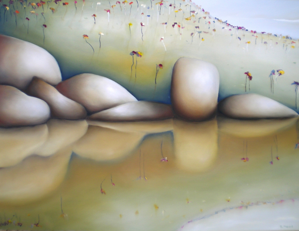 """Blackwood River Reflection"" Oil on canvas Size: 102cm x 76cm PRICE:   SOLD"