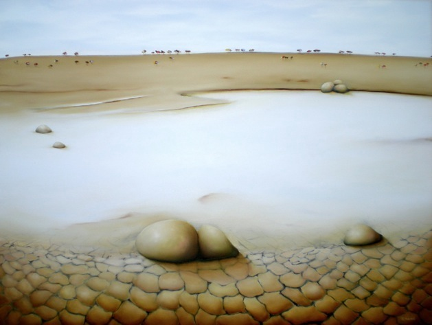 """Salt Lake"" Oil on canvas Size: 101cm x 76cm Price:  SOLD"