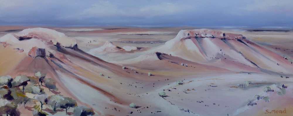 """Painted Desert - No 1"" Oil on masonite Size: 50cm x 20cm / 20"" x 8 inches"