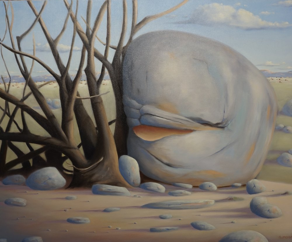 """Dolphin Rock - Wheatbelt""   Oil on canvas  Size: 92cm x 76cm  Price:  $2,800"