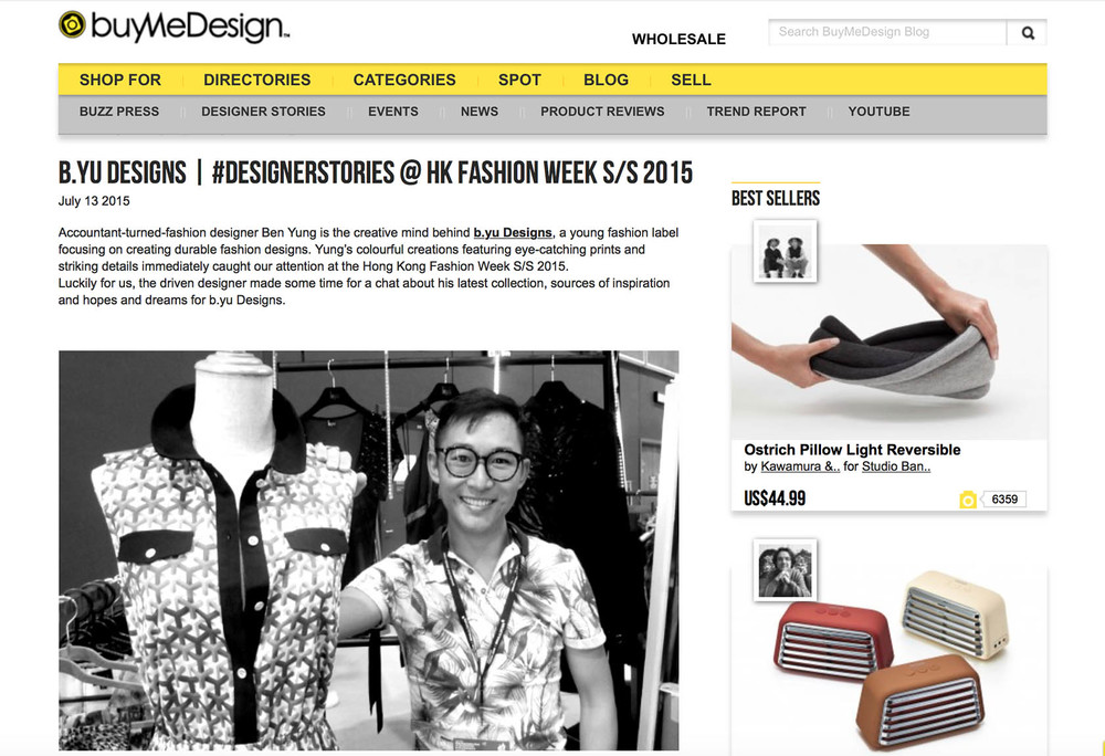 BUYMEDESIGN BLOG  #DesignerStories column Published 13 July 2015
