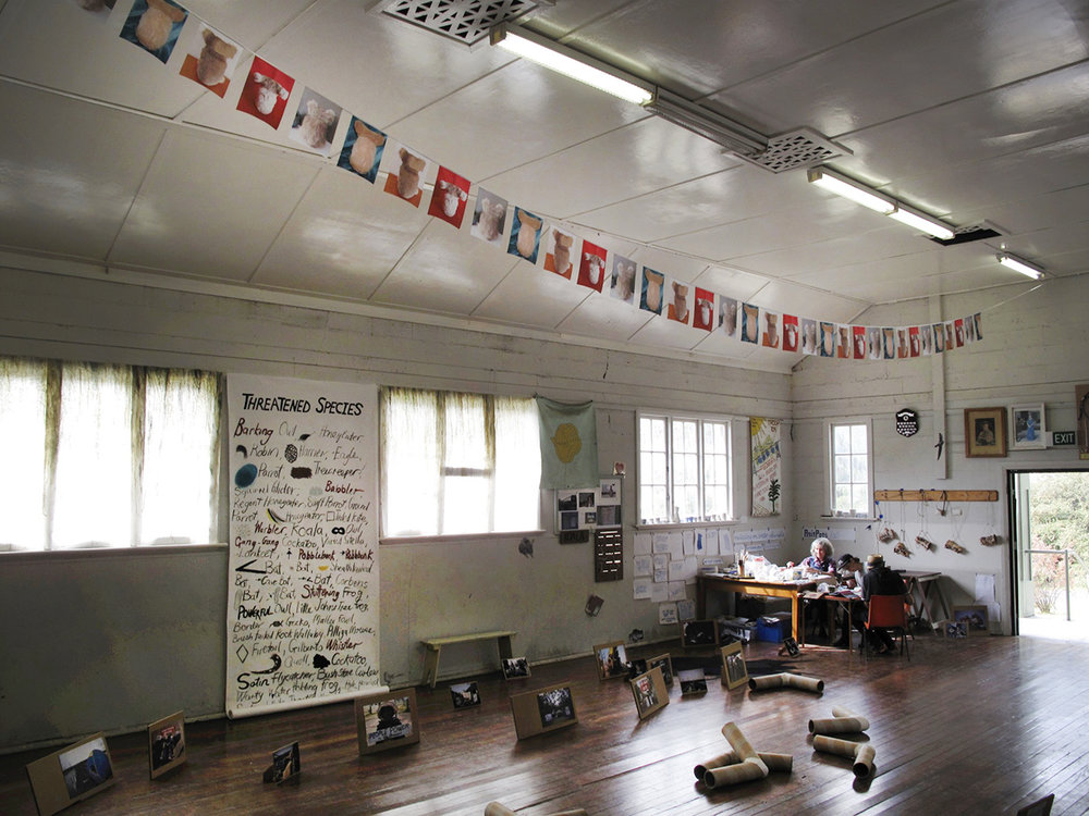 (top) David Watson,  Koala Diplomacy , 35 digitally-printed prayer flags, bias binding, 2015  Despite sustained pubic protest and numerous arrests, in late 2014 Whitehaven Coal began razing koala habitat in the Leard State Forest south of Narrabri, for its Maules Creek coal mine. My domestic koalas were harvested from eBay. Turning one's back is a form of non-violent direct action.