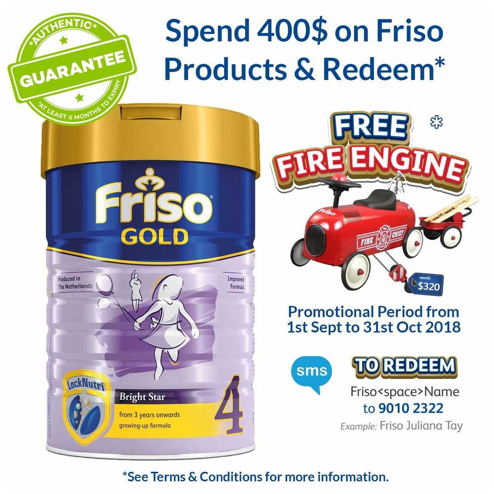 Friso Fire Engine Min Spend 400 Get Free Worth 320 Frisolac Gold 2 900gr 8716200638210 0001