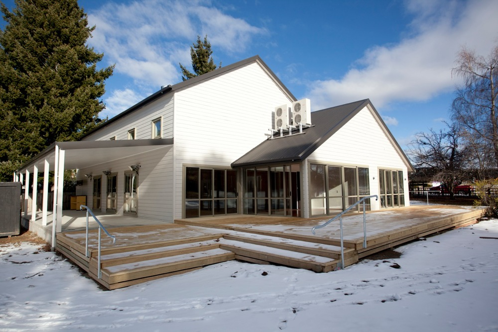 Tekapo Events Centre in the snow