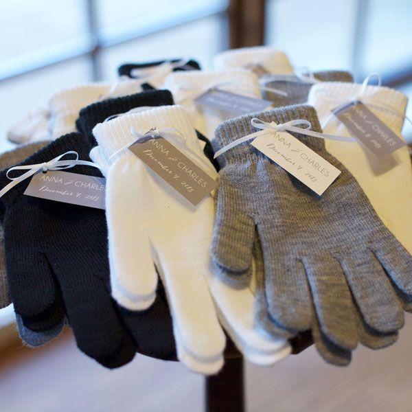 Woollen winter gloves make a wonderful favour idea